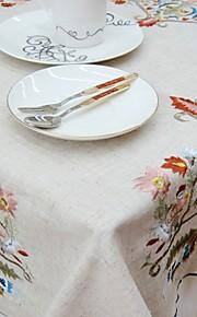 Vierkant Geborduurde Tafellakens , Linnen MateriaalDiner Decor Favor Woondecoratie Hotel Eettafel Wedding Party Decoration Wedding