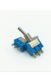 Lossmann 10st 6a ac125v toggle tuimelschakelaar gebruikt in de auto / boot / jacht / racing - meer blauw (on-off-on schakelaar)