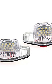 2 x fejlfri 18 1210 SMD førte nummerplade lys lampe til Honda CR-V fit jazz Crosstour odyssé