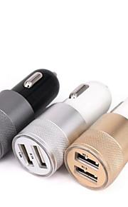 USB2.0 Bil USB oplader Socket Andre 2 USB-porte Kun oplader Bil 5V/2.1A