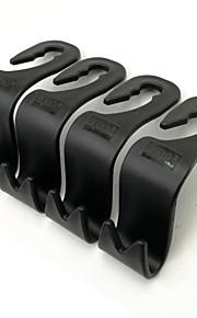 ziqiao bil suv bagsædet hovedstøtte bøjle opbevaring kroge (pakke med 4)