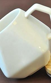 미니멀리즘 드링크웨어, 200 ml 간단한 기하학적 패턴 세라믹 누드 우유 일상용 컵