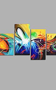 手描きの 抽象画 任意の形状,Modern 4枚 キャンバス ハング塗装油絵 For ホームデコレーション