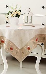 Vierkant Geborduurde Tafellakens , 100% Katoen MateriaalChristmas Decor Favor Tabel Dceoration Bruiloften Diner Decor Favor Woondecoratie