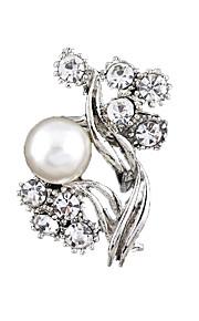 Broches Imitatie Parel Bergkristal Parel Wit Cirkelvormig ontwerp Uniek ontwerp Modieus Sieraden Bruiloft Feest Dagelijks