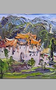 Peint à la main Paysage Fantaisie Panoramique Horizontale,Moderne Classique Un Panneau Toile Peinture à l'huile Hang-peint For Décoration