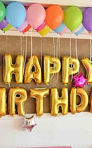 16 Inch Gold Alphabet Letter Balloons Beter Gifts® Party Decorations