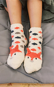 Sign Korea cute cartoon coral velvet floor socks thick warm socks Nett