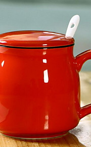 Классика Минимализм Стаканы, 360 ml Простой геометрический узор Подруга Gift Керамика Сок Молоко Каждодневные чашки / стаканы