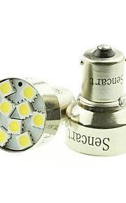 1156 ba15s 9 LED 5050smd 6000k cálida luz de freno bulbo del coche / turno / cola / retroceso DC12-16V
