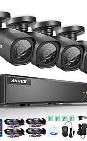 annke 8-kanaals 720p ahd dvr 4 stuks 1200tvl CCTV-camera's hd outdoor ir nacht surveillance systeem kit