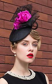 Flax Silk Net Headpiece-Wedding Special Occasion Outdoor Fascinators Hats 1 Piece