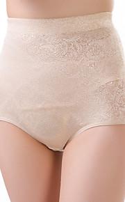 Women's Sexy Jacquard Slimming High Waist Body Shaping Panties Nylon Spandex Beige Female Underwear