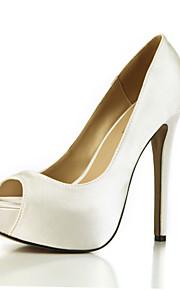 Talons féminins chaussures de club d'été fête de mariage en soie&Robe de soirée