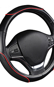autoyouth auto stuurwiel sportief golfpatroon met rode lijn stiksel m size fits 38cm / 15 diameter autoaccessoires