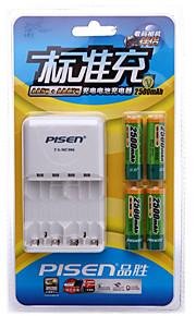 Pisen aa nikkel metalhydrid rachargeable batteri 1.2V 2500mAh 4 stk