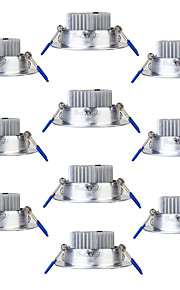 YouOKLight 10PCS 3W 250lm AC85-265V 3 x LEDs Warm White 3000K Ceiling DownLight -Silver