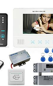 mountainone 7 tommer RFID adgangskode video dørtelefon intercom-system dørklokke kamera 1000tvl elektrisk dråbe bolt lås