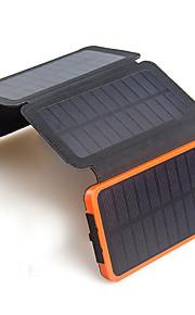 bærbare folde 6w solpanel 10000mah batteri soloplader til mobil universal oplader