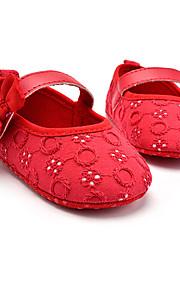 Enfants-Mariage Extérieure Habillé Décontracté Soirée & Evénement-Blanc Noir Rouge Rose-Talon Plat-Premières Chaussures-Ballerines-Tissu