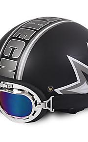 Unisex nieuwe zomer vintage motorfiets helmen open gezicht half motor&Brilhelm