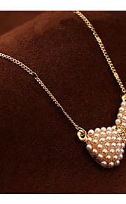 Damen Paar Halsketten Anhängerketten Ketten Imitierte Perlen Schleifenform Künstliche Perle AleaciónBasis Einzigartiges Design Anhänger