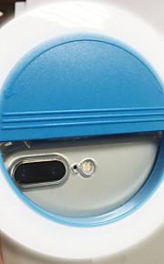 Mobiele telefoon licht leidde zelfontspanner lamp usb opladen schoonheid flash nacht licht ingebouwde lithium batterij blauw