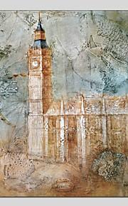 Pintados à mão Abstrato Panorâmico Vertical,Moderno Clássico 1 Painel Tela Pintura a Óleo For Decoração para casa