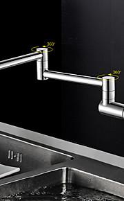 現代風 ポットフィラー 壁式 回転可 with  セラミックバルブ シングルハンドルつの穴 for  クロム , 水栓