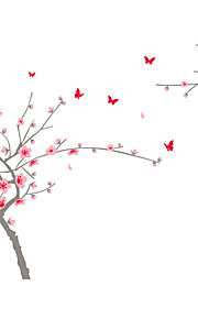 Wall Stickers Wall Decals Style Big Tree in Full Bloom PVC Wall Stickers