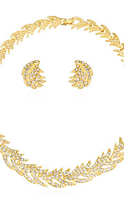 Set de Bijoux Collier Boucles d'oreilles Mode euroaméricains Strass Alliage Soleil 1 Collier 1 Paire de Boucles d'Oreille PourMariage