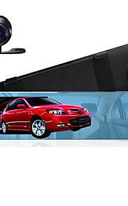 4,3 spiegel auto DVR dubbele camera ondersteuning back-up camera's fhd 1080p video registrator recorder parkeer monitor auto black box