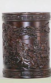 שחור אזאסה עץ גילוף בעט מחזיק שולחן העבודה