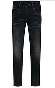 Heren Eenvoudig Medium taille Recht Inelastisch Jeans BroekEffen
