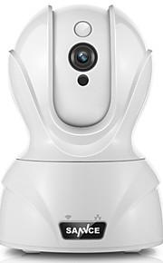 Sannce® 1,0 mp wifi kamera ir-cut 64 dages nat fjernadgang beskyttet opsætning 2-vejs lyd
