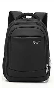 15-tommer computer bærbar taske vandtæt chok åndbar polyester materiale sort / brun / grå