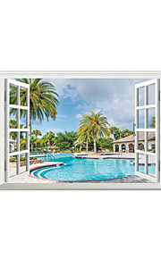 3D Wall Stickers Wall Decals Style Holiday Resort PVC Wall Stickers