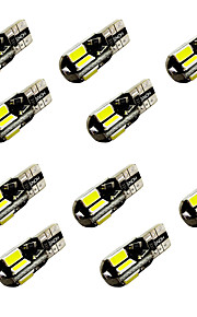 10pcs w5w t10 / ba9s t4w 8smd 5730 decode indicator lamp lamp licht leeslamp wit dc12v 2w canbus