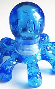 1 stk bærbar krystallmassasje håndholdt blekksprutmasser tilfeldig farge