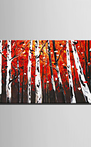 Mini Size E-HOME Oil painting Modern The Mysterious Birch Forest Pure Hand Draw Frameless Decorative Painting