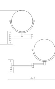 Gadget de Salle de Bain / Chrome Acier inoxydable /Contemporain