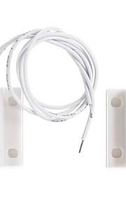 Commutateur magnétique câblé alarme de contact alarme / capteur de porte avec deux fils pour porte en bois