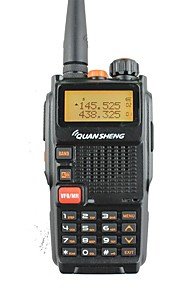 Quansheng tg-k4at (uv) dubbele band tweerichtings radio5w 128ch fm draagbare tweeweg cb ham radio quansheng walkie talkie