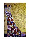 handgemalten OElgemaelde von Gustav Klimt mit gestreckten Rahmen