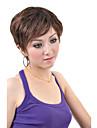 capless courte perruque de cafe synthetiques cheveux raides (0463-6.10-246)