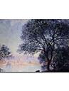 Dipinta a mano Riproduzione / Paesaggi Un Pannello Tela Hang-Dipinto ad olio For Decorazioni per la casa