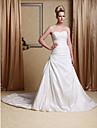 Lanting Bride® A-linje / Prinsesse Rektangel / Æble / Timeglas / Omvendt Trekant / Missere / Pære / Petit / Plus Størrelser Brudekjole -