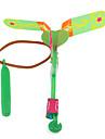 ledde fantastiska flygande helikopter paraply jet enhet gummi trollslända (1 set)