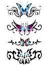 5 st fjäril vattentäta tillfällig tatuering (17.5cm * 10cm)