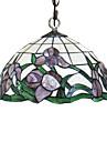 Max 40W Tiffany / Bowl Mini Style Bronze Pendant Lights Living Room / Bedroom / Dining Room